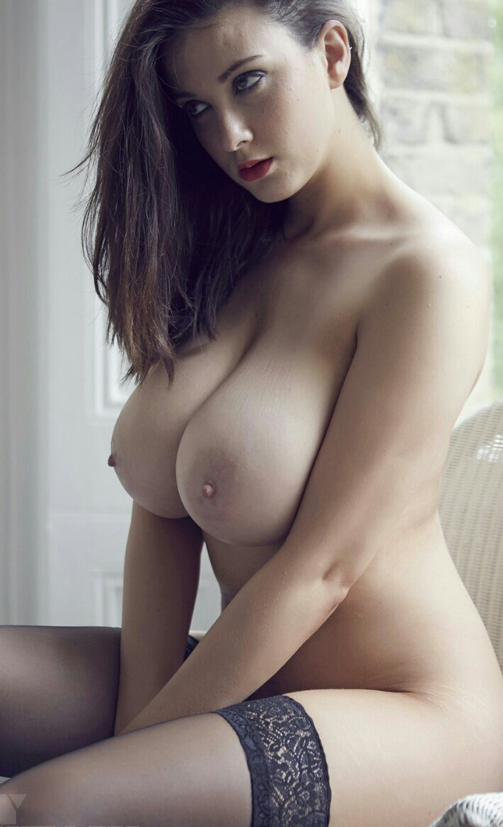 Short brunette big boobs