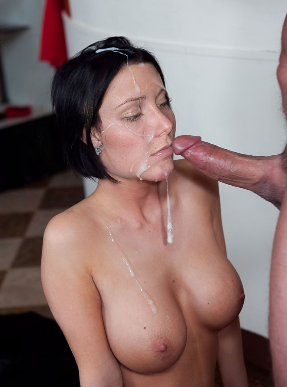 Hot Blowjob In The Kitchen With Huge Cumshot